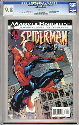 Marvel Knights Spider-Man #1 Cgc 9.8 White Pages Green Goblin Black Cat 2004