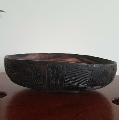 Antique/vintage African trible wooden hand  carved bowl