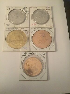 Canada Token Dollars Mixed Lot Of 5 #568