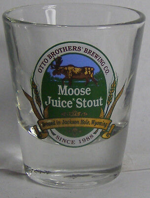 Otto Brothers Brewing Co Moose Juice Stout Shot Glass #2774