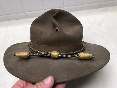 WW2 US Military Stetson Campaign Hat - Size 7 1/8