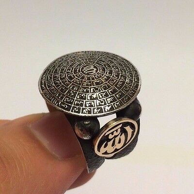 Turkish Islamic Jewelry 99 Names of Allah (C.C) 925K Sterling Silver Men's Ring
