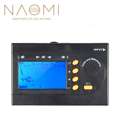 NAOMI 3in1 Tuner Metronome Tone Generator For Chromatic Guitar Bass Violin NEW
