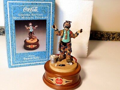 Coca Cola Limited Edition Mini Musical Emmett Kelly Music Box 1995