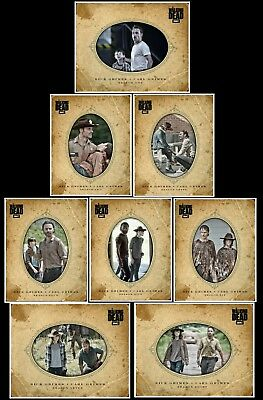 2018 RICK &CARL FATHER'S DAY COMPLETE SET OF 8 Topps Walking Dead Trader Digital