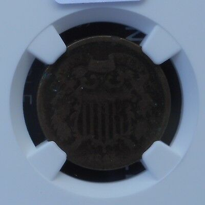 1865 2C Two Cent Coin - NGC Certified AG Details - D016