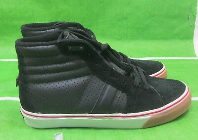 new skate shoe FMS Shoes O.G. High Shoe - Black/Red  103940-BR   SIZE 10.5