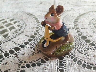 Wee Forest Folk M-152 Scooter Mouse YELLOW ONLY 36 PIECES MADE IN 1996