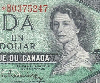 1954 Bank Of Canada Qeii $1 **star Note** (( Ef+ ))