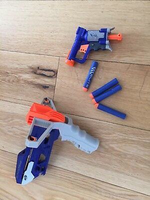 Pair Nerf Gun Bundle slingstrike & Jolt With Bullets Darts Sling Guns Blaster