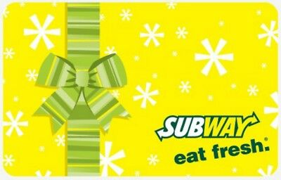 Subway Gift Card with Possible Bonus