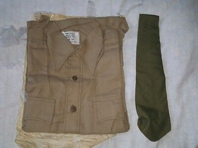 british army  Tropical desert offices airtex shirt and tie