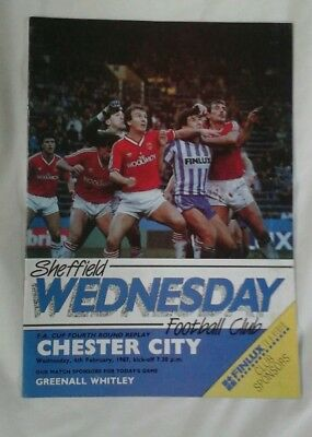 SHEFFIELD WEDNESDAY v CHESTER CITY 1986-87 FA CUP 4th RND REPLAY