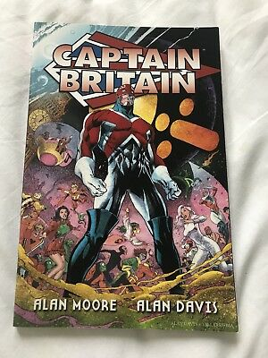 Captain Britain Trade Paperbacks Graphic Novel Alan Moore Marvel Comics