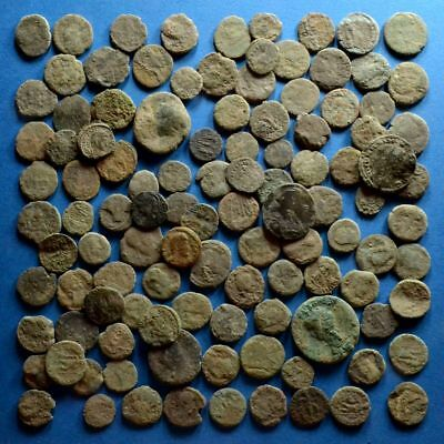 Lot of 110 Uncleaned Low Quality Roman Bronze Coins
