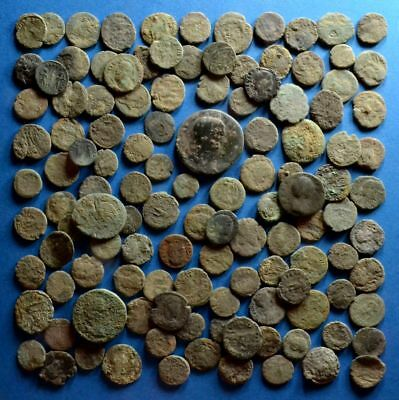 Lot of 120 Uncleaned Low Quality Roman Bronze Coins