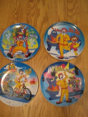 4 McDonald's Melamine Collector's Plates - Go Active - 2005
