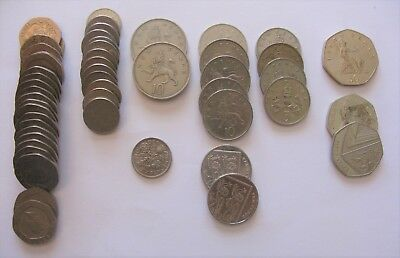 Lot of Pence Coins From the United Kingdom.