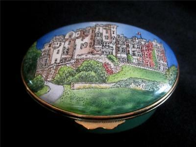 Staffordshire Enamels The Carnegie Club Golf Scotland Hand Painted Trinket Box