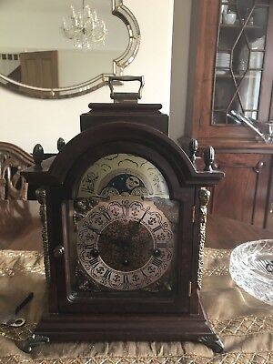 Chiming Bracket Clock With Moon Face