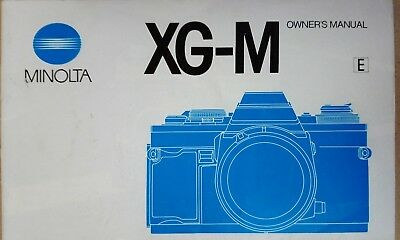 Minolta XG-M Owners Manual Instruction Guide booklet
