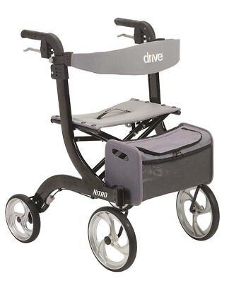 Drive Medical Nitro Euro Style Black Rollator Walker RTL10266BK Rollator NEW