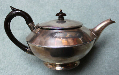 Antique Atkin Bros. Silver Plated Teapot. Dated 1955.