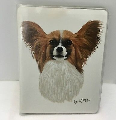 Retired Papillon Dog Vinyl Softcover Address Book by Robert May