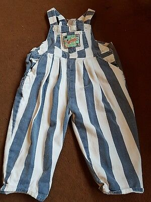 Vintage Retro Unisex Baby Dungarees Romper All In One 80s 90s