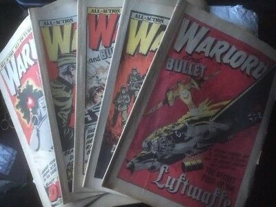 17 X Warlord Issues - 224 -240 Decent Condition For Age - Battle Action 2000Ad