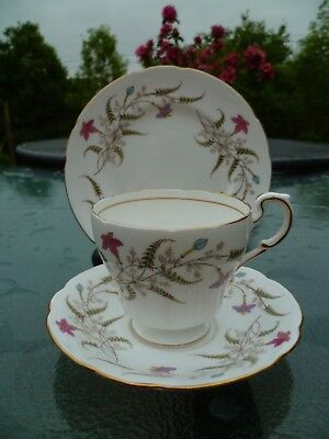 Lovely Vintage Paragon English China Trio Tea Cup Saucer Fancy Free