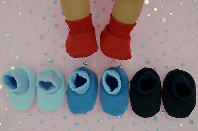 "Play n Wear Doll Clothes For 17"" Baby Born 4x BOOTIES~BLUE~NAVY~RED~CHAMBRAY"
