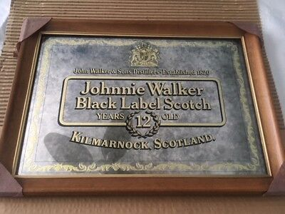 Johnnie Walker Black Label Scotch 12 Year Old Hanging Mirror