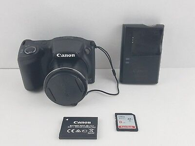 Canon PowerShot SX400 IS 16.0MP Digital Camera 30x Zoom Charger And Memory Card