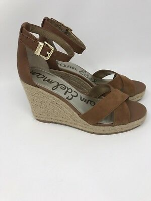 9093f325793 Sam Edelman Brenda women s Brown Wedge Sandal Espadrille Strap Shoes Size 8  1 2