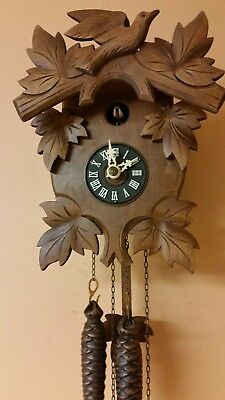 GERMAN CUCKOO CLOCK / Fully  Servised /Perfect Working Order /