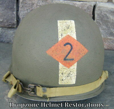 WWII M-1 Helmet 2nd Ranger Bn. Captain.