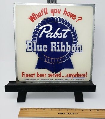 Pabst Blue Ribbon Reverse On Glass