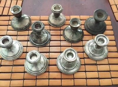 LOT OF WEIGHTED STERLING SILVER CANDLE STICKS ~ SCRAP Or USE  1,927 GRAMS