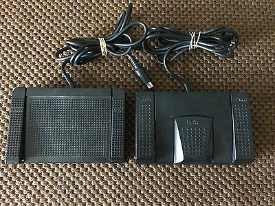 ( Lot of 2 ) Sanyo FS-56 & FS-53 Dictaphone Foot Pedal Transcriber Control