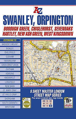 Master Map of South East London by Geographers' A-Z Map Co Ltd (Sheet map, fold…