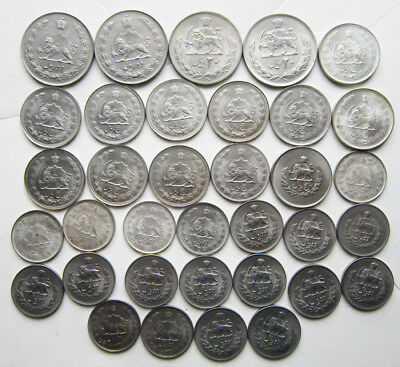 Lot of 35 Iranian coins: AU-BU, some silver