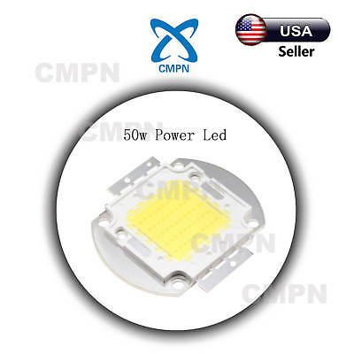 1Pcs 50W High Power LED Chip White 6000-6500k Flood Light Lamp Diodes SMD Beads