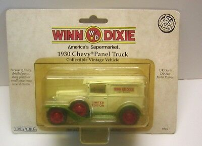 NOS 1991 Limited Edition Winn-Dixie 1930 Chevy Panel Truck Die-cast 1/43 Scale