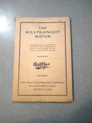 1920's WILLYS-KNIGHT SLEEVE VALVE ENGINE BOOKLET DIAGRAM THAT MOVES RARE!