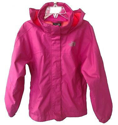The North Face Girls' Resolve Reflective Rain Jacket Azalea Pink Size 5 EUC $65