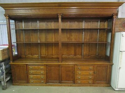 Antique Beautiful 10' General Store Pharmacy Apothecary Cabinet L@@k!!!
