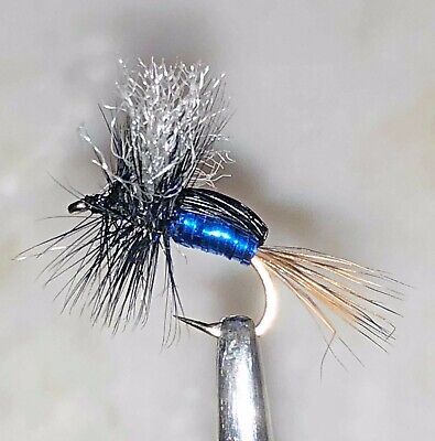 BLOWFLY CRYSTAL HUMPY DRY FLY FISHING FLIES - 6 x SIZE #12