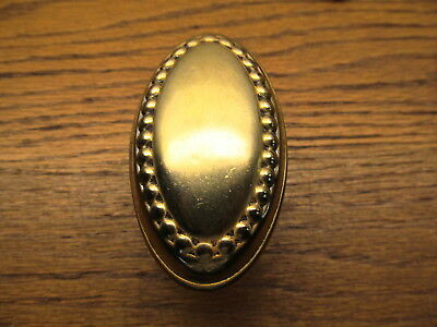 Brass ? Bronze ? Oval Door Knob...ornate Detail...