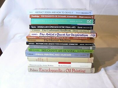 Art Instruction :Theory, Practice, and Inspiration 15 Book Lot